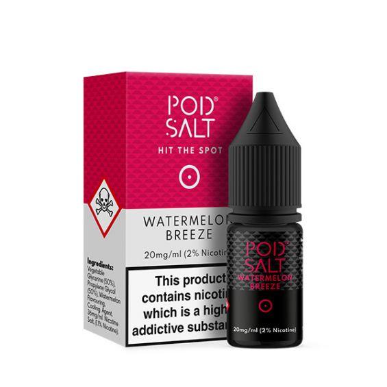 Watermelon Breeze Nic Salt E-Liquid by Pod Salt Review